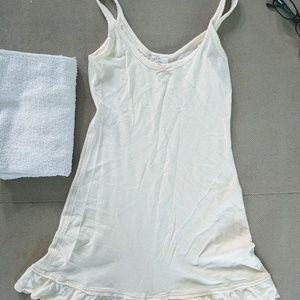Free People Ivory XS 100% cotton tank